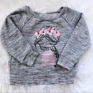 Gap Flower Crown Girl Sweatshirt